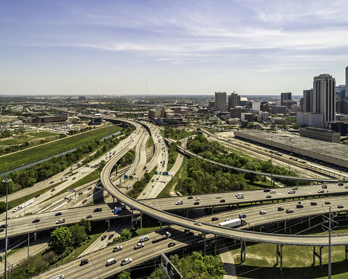 dji harriscounty houston i10 i45 texas aerial buildings downtown highway image interchange photo photograph skyline f45 mabrycampbell march 2019 march272019 20190327downtowncampbelldji0997pano 88mm ¹⁄₁₀₀₀sec 100 24mm fav10 fav20