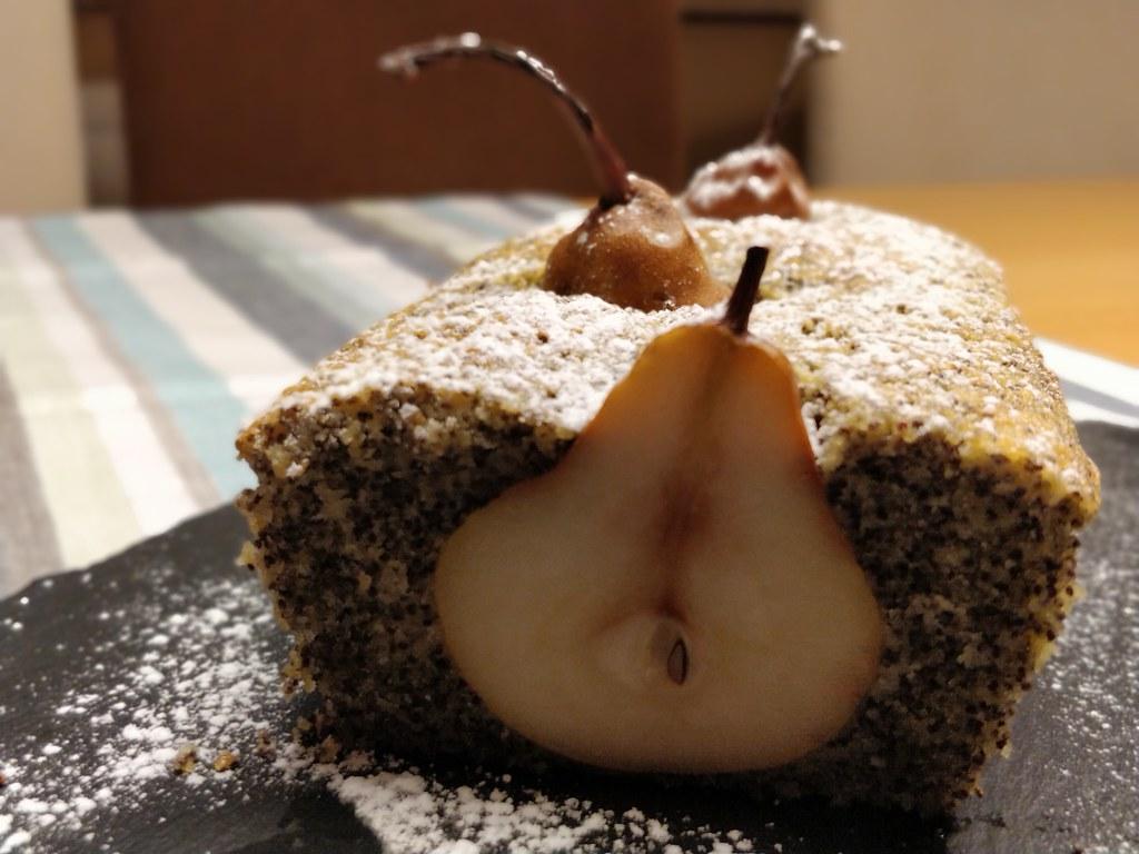 Versunkener Birnen-Mohn-Kuchen