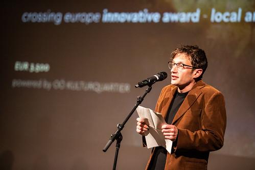 CE19 – awards ceremony // Sebastian Markt (Jury Local Artist) // photo © Andreas Wörister / subtext.at