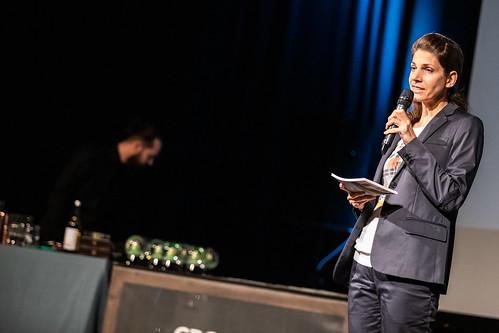 CE19 – awards ceremony // Moderator Karin Schmid // photo © Andreas Wörister / subtext.at