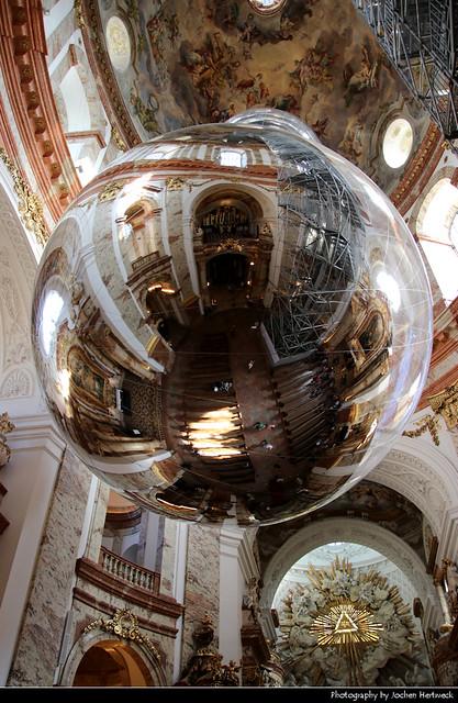 Art installation, Karlskirche, Vienna, Austria