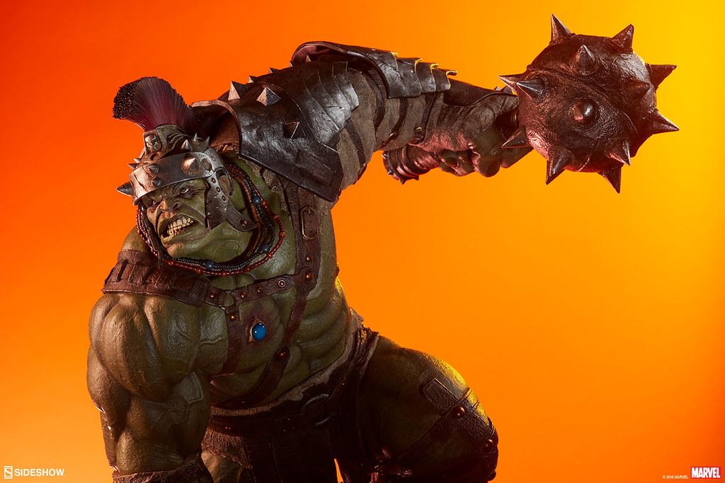 充分展現浩克壓倒性的強大! Sideshow Collectibles Marvel Comics【角鬥士浩克】Gladiator Hulk 1/4 比例全身雕像作品 普通版/EX版