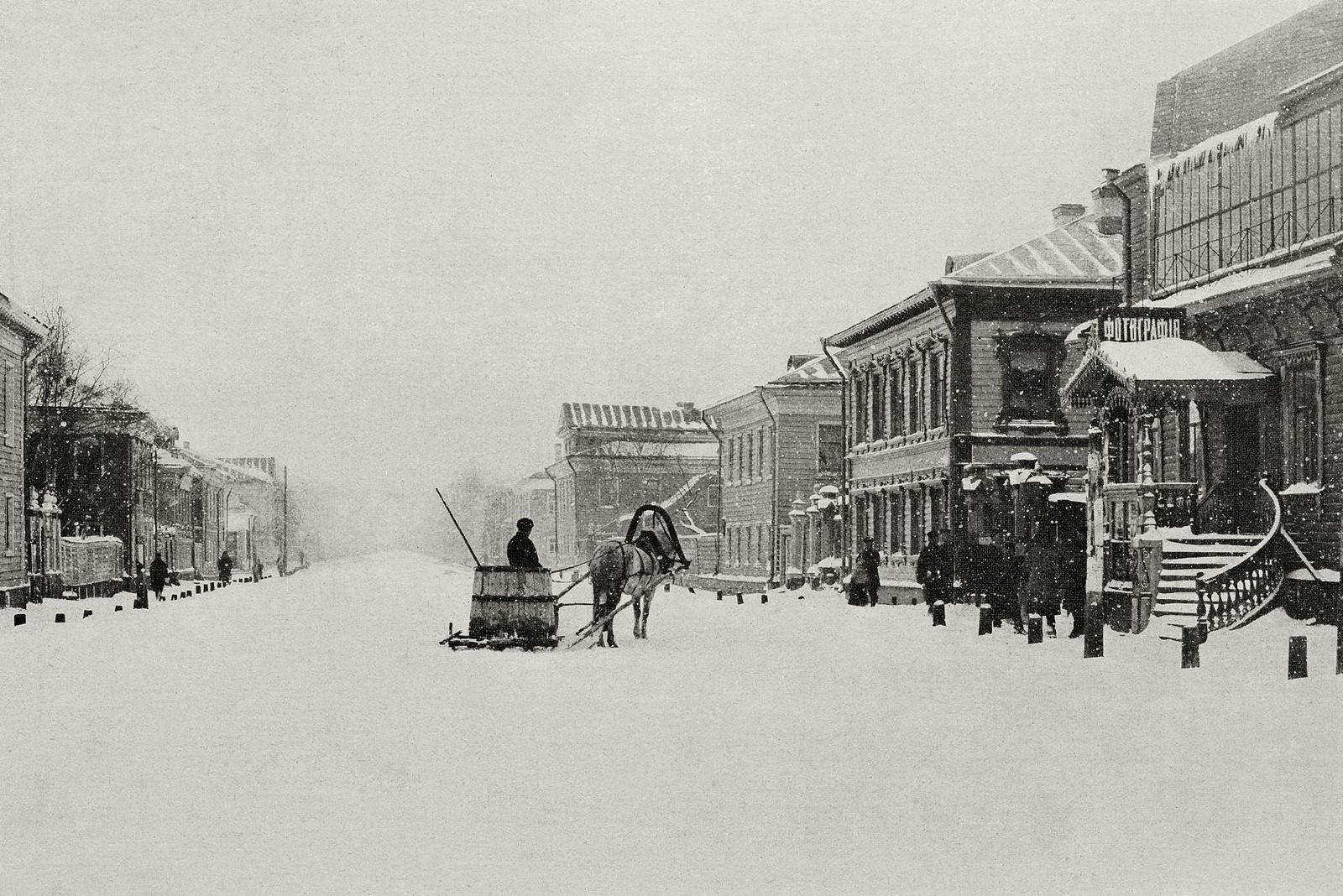 Жизнь на заснеженных улицах Архангельска