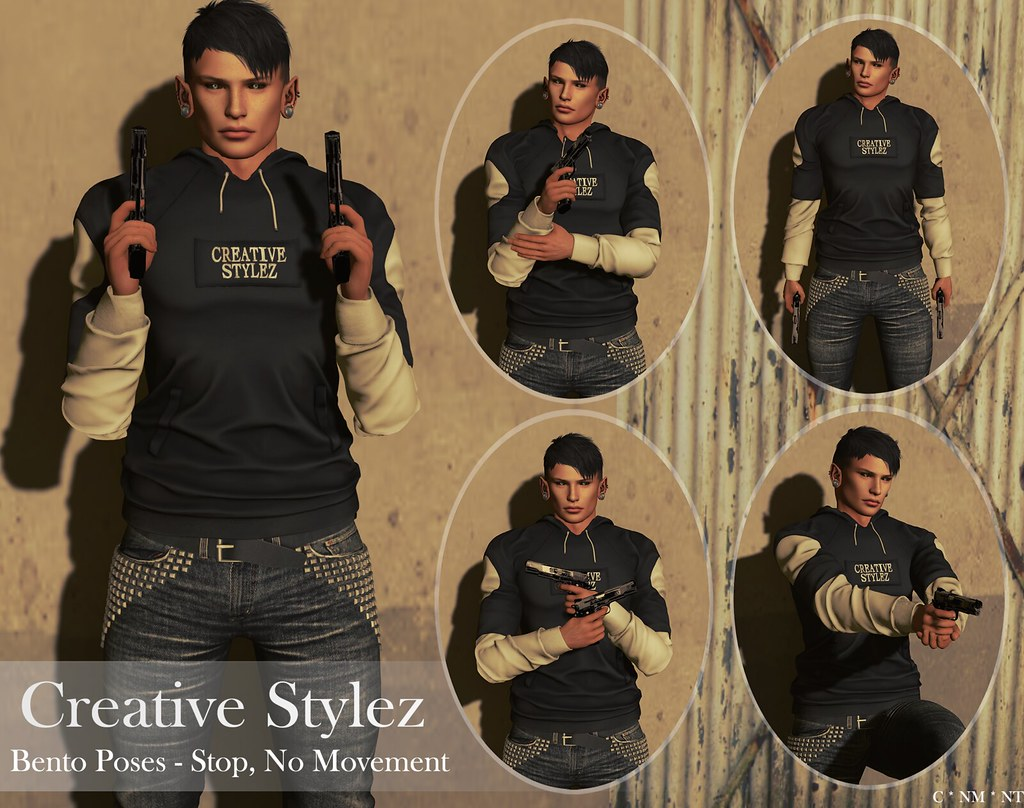 Creative Stylez – Bento Poses – Stop, No Movement –