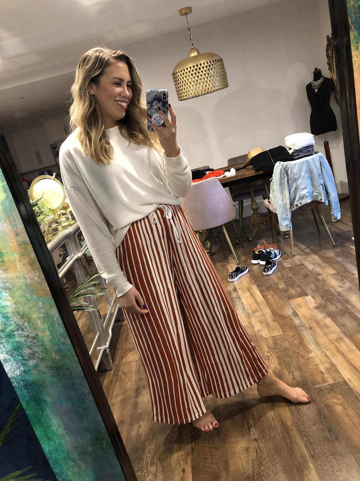 ASOS Cropped Striped Pants