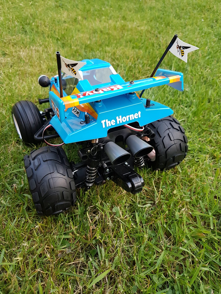 Tamiya 58666 Comical Hornet painted in PS3 Light Blue, by CTE RC