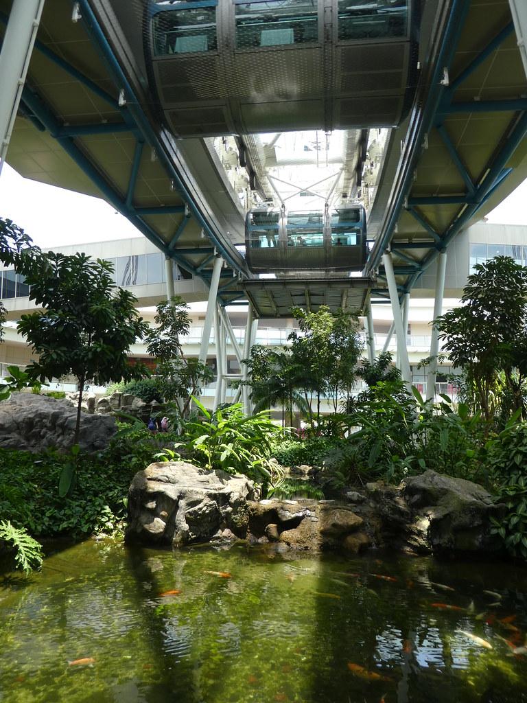 Tropical garden beneath the Singapore Flyer