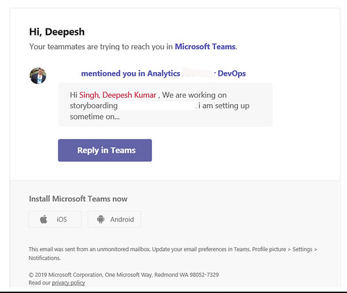 How to stop email notifications from Microsoft Teams