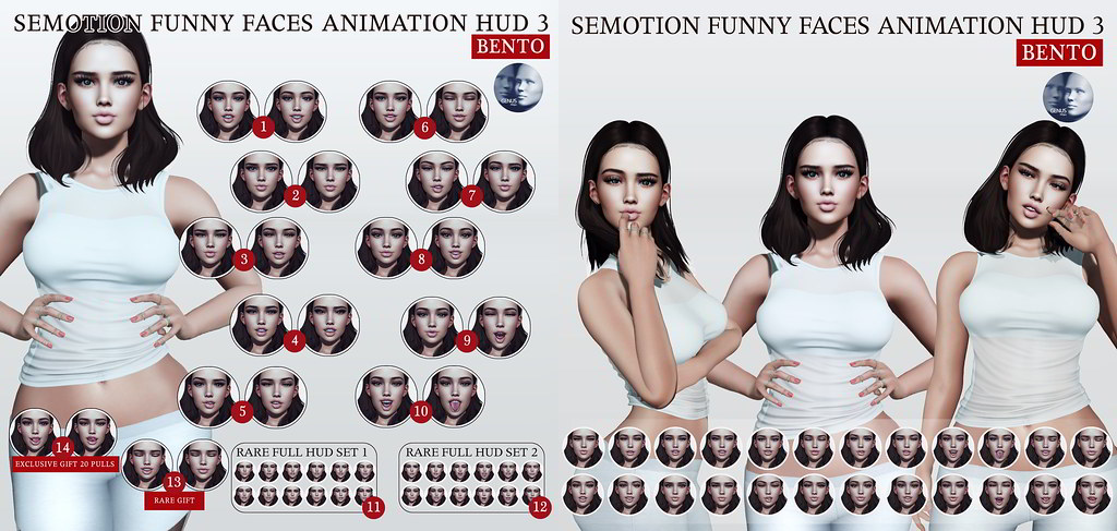 SEmotion Funny Faces Animation HUD 3 [GENUS] @ Gacha Garden