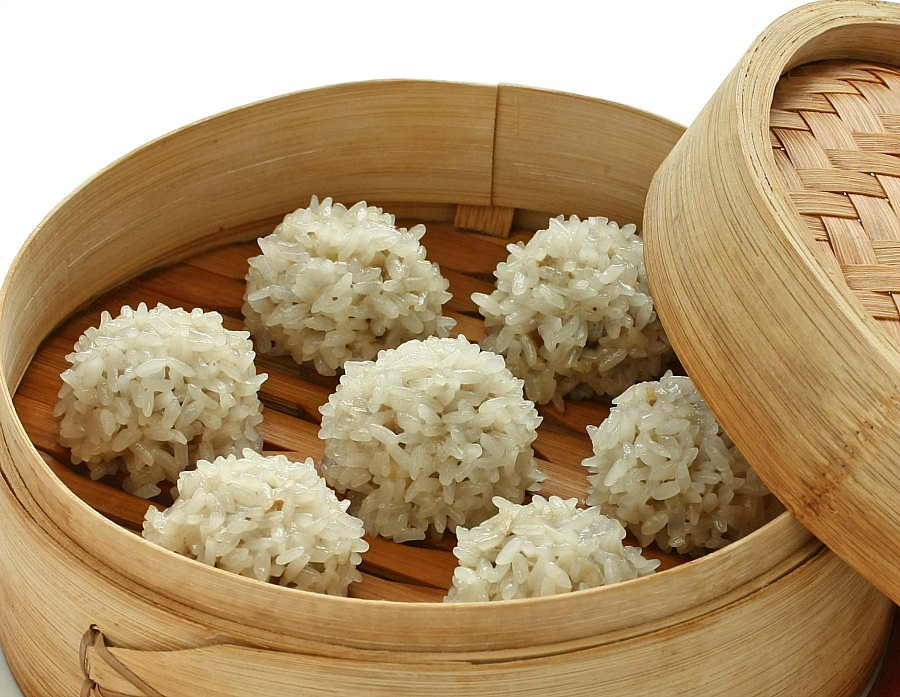 Meatballs in Sticky Rice