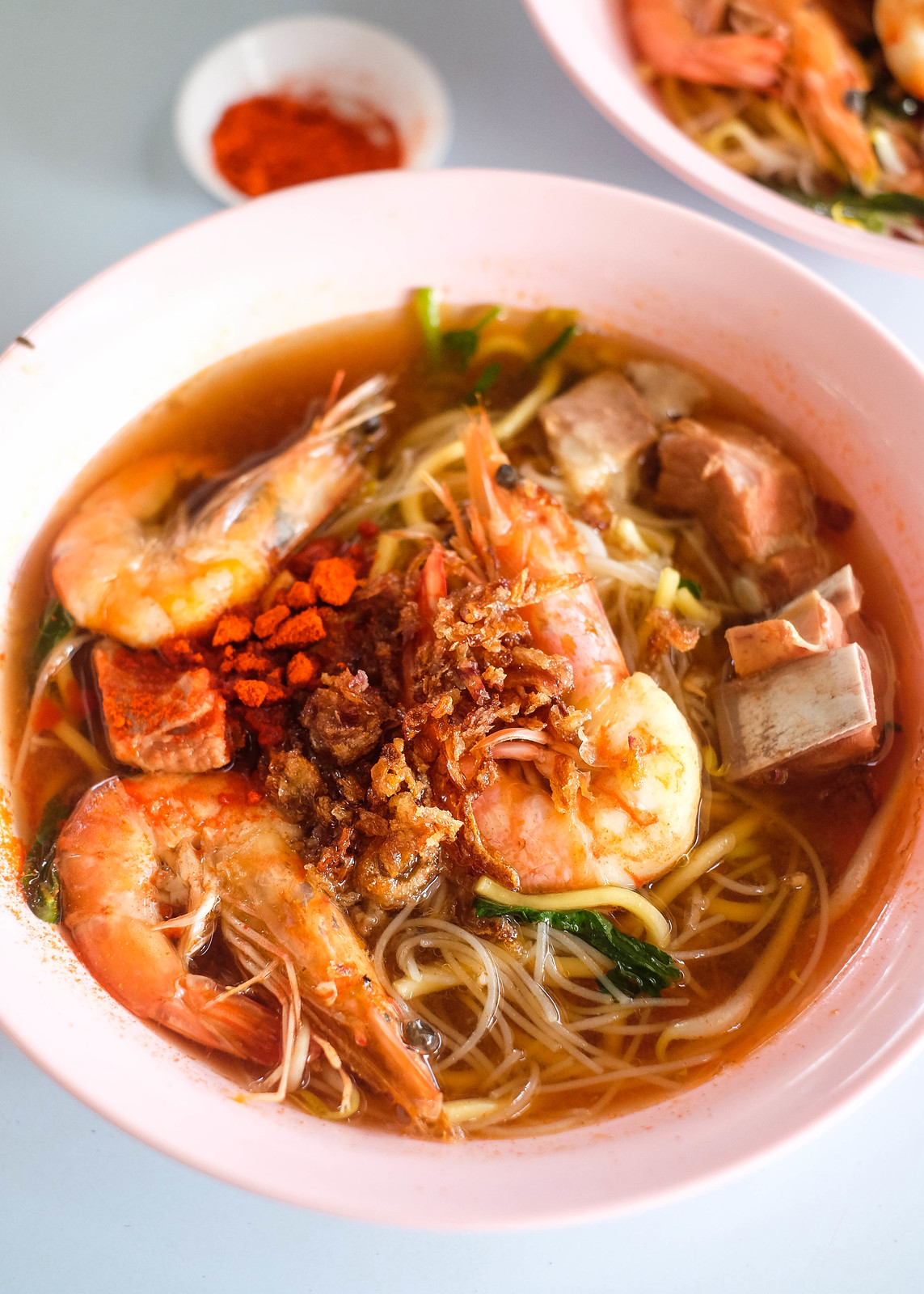 Bowl of Prawn Noodle Soup by Joo Chiat Prawn Mee