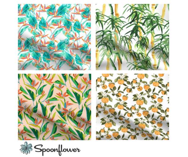 Spoonflower Tropical Prints
