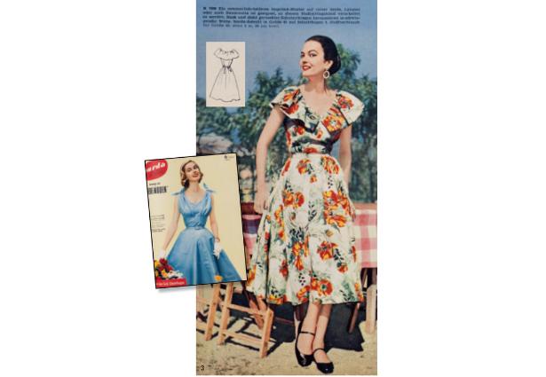 Retro Burda Dress Pattern