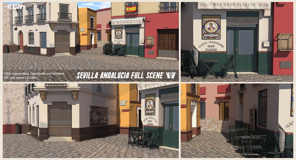 [ Versov //​ ] SEVILLA ANDALUCIA Fullscene available at FaMESHed - TeleportHub.com Live!