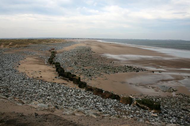 The beach at Seaton Carew