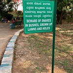 Beware of Snakes at Lalbagh Botanical Gardens