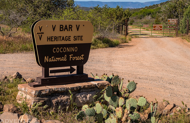 V Bar V Heritage Site Sign