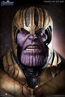 光是胸像就來到超魄力的80公分!! Queen Studios《復仇者聯盟:終局之戰》薩諾斯 Thanos 1:1 比例胸像作品