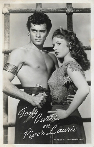 Tony Curtis and Piper Laurie, The Prince Who Was a Thief (1951)