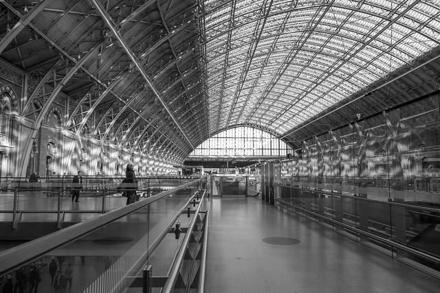 St Pancras Station Thursday morning