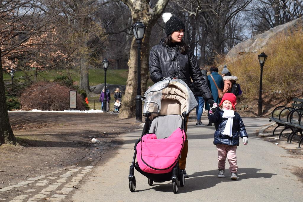Y escuchando sus impresiones en Central Park