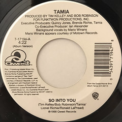 TAMIA:SO INTO YOU(LABEL SIDE-A)