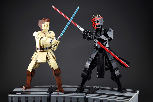 Obi-Wan and Darth Maul's lightsaber duel