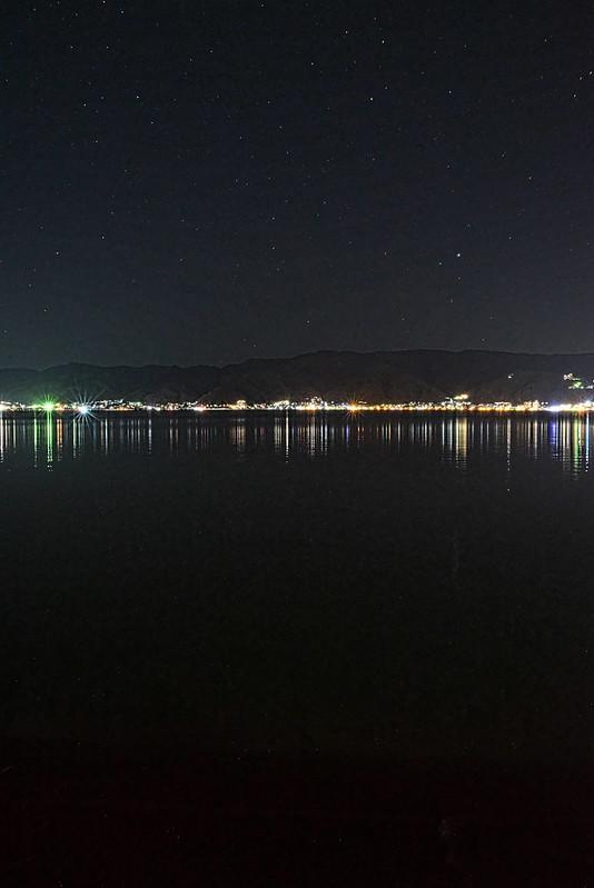諏訪湖の星空