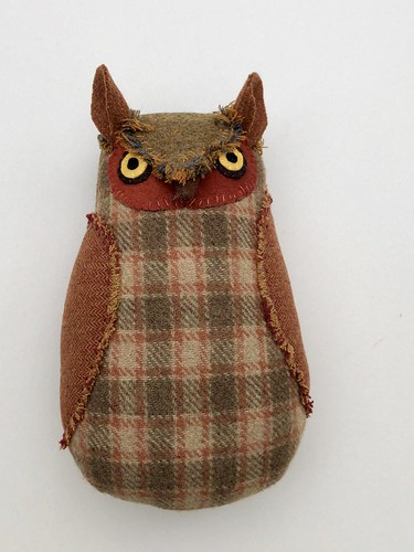 Brown Plaid Owl | by Mimi K