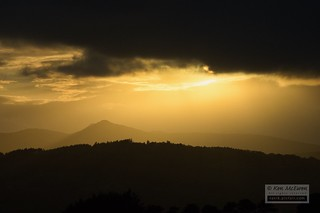 Bennachie sunset and clouds