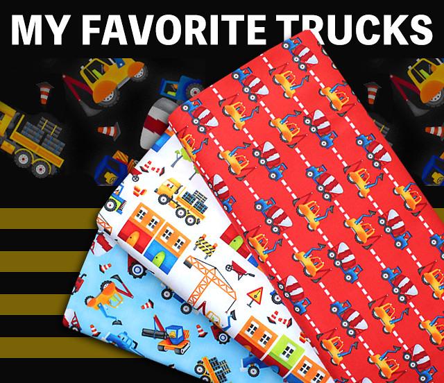 Henry Glass & Co., My Favorite Trucks 2209-88 Mini Set Trucks Red