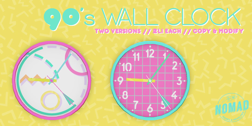 NOMAD // 90's WALL CLOCK @ FLF