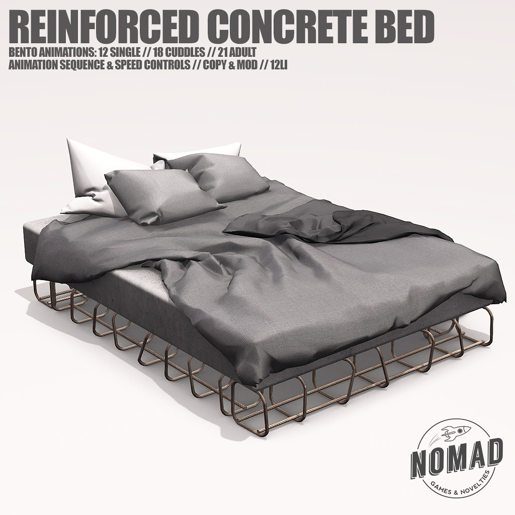 NOMAD // REINFORCED CONCRETE BED