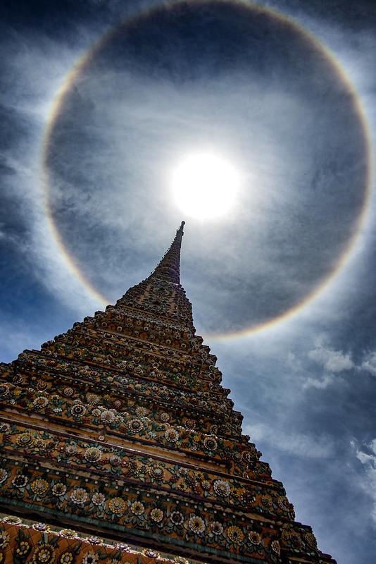A Rare Sun Halo Over Wat Pho, Bangkok