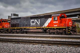 Canadian National DMIR EMD SD40-3 404, Missabe Junction - Duluth MN USA, 05/02/19