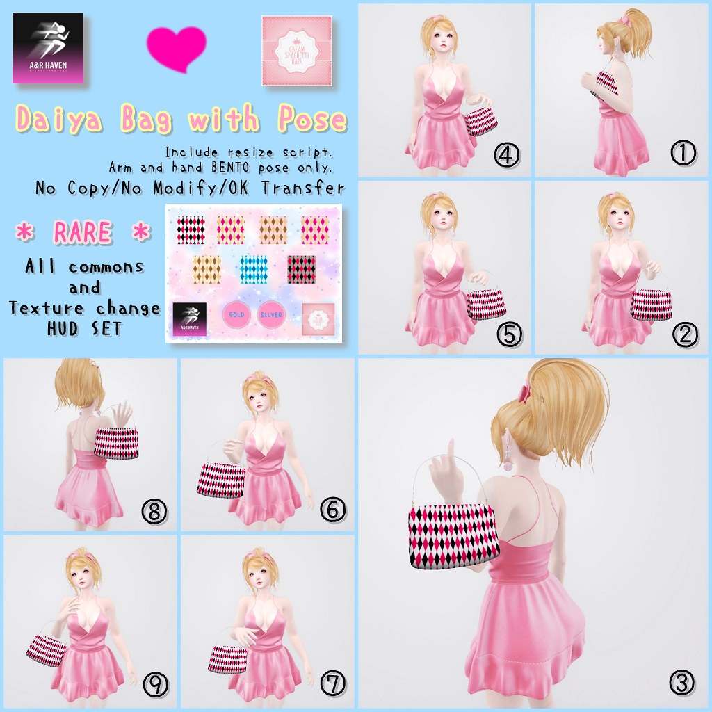 !cream spaghetti hair! x A&R HAVEN Daiya Bag w Pose Gacha Key