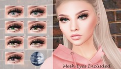 ::MD:: May Genus Eye Appliers + Mesh Eyes (unrigged)