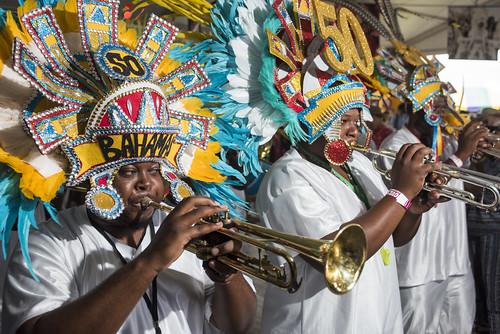 The Bahamas Junkanoos at Jazz Fest day 6 on May 3, 2019. Photo by Ryan Hodgson-Rigsbee RHRphoto.com