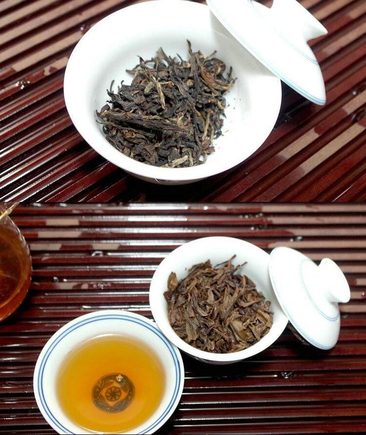 """2005 HaiWan LaoTongZhi """"NongXiangXing"""" (Thick flavor type)Wave pattern Cake 400g Puerh Sheng Cha Raw Tea"""
