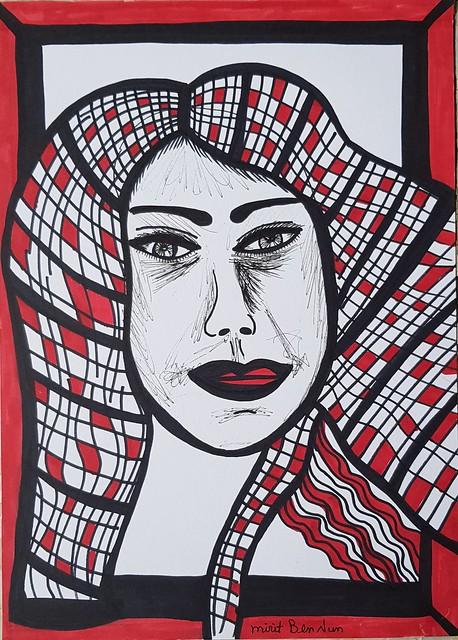 Woman israeli drawings exhibition