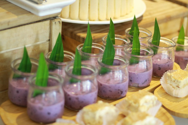 Chilled Ube Pandan and Tapioca Pearls