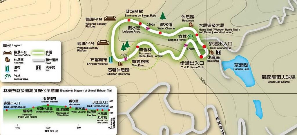 林美石磐步道導覽地圖