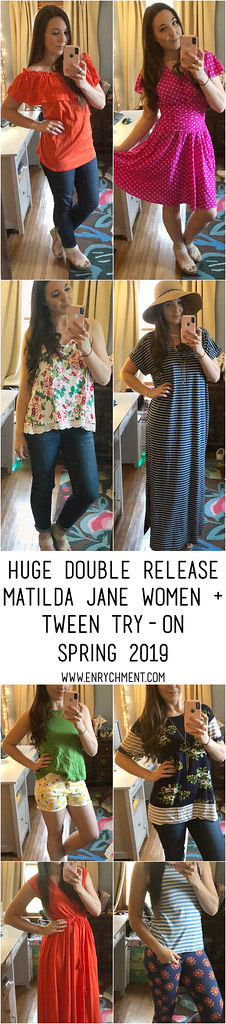 Matilda Jane Brilliant Daydream April + May double release try-on! | www.enrychment.com #matildajane #realmomstyle