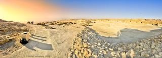 Masada Top Panorama at Sunrise, Summer 2011, Israel