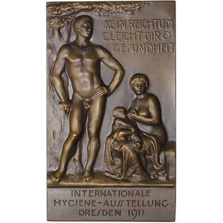 Dresden Uniface Bronze Plaque