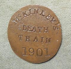 1901 McKinley's Death Train Counterstamp obverse