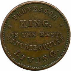 1875 King Ventriloquist Token reverse