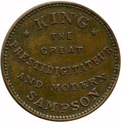 1875 King Ventriloquist Token obverse