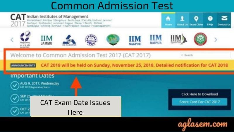 CAT Exam Date Notice