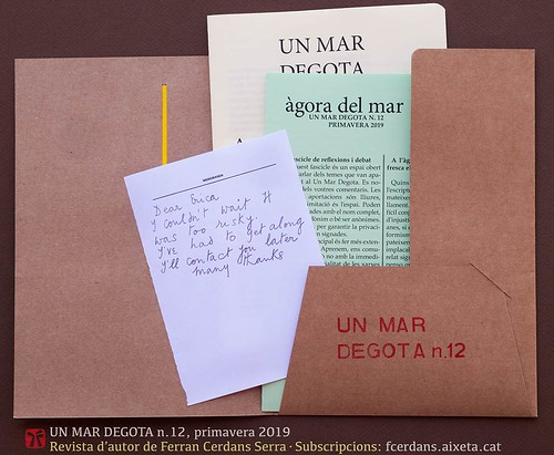 Un mar degota n.12, revista d'autor de Ferran Cerdans Serra, primavera 2019